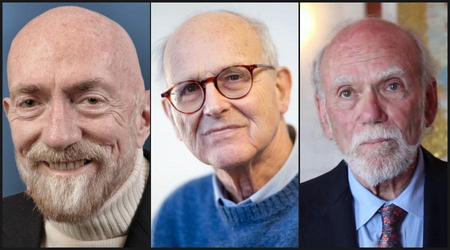 Лауреаты Нобелевской премии по физике 2017 года, (слева направо): Кип Торн, Райнер Вайсс, Барри Бэриш. (Фото: LIGO Lab / Caltech.)