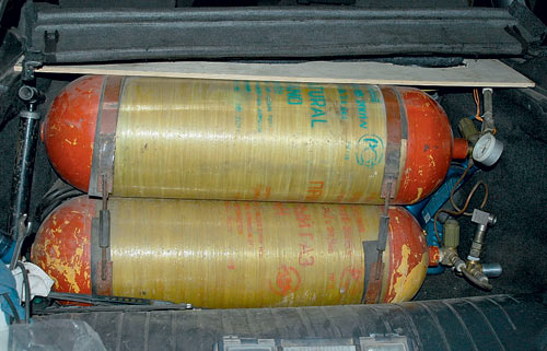 закачка бытового газа в балон