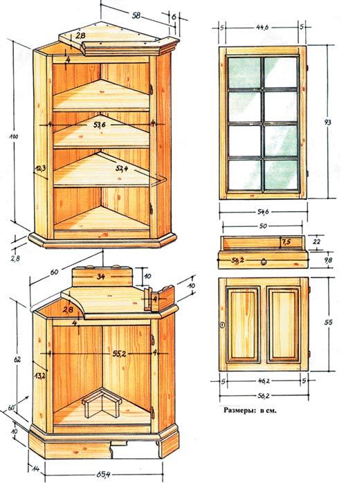Как сделать угловой шкаф своими руками в домашних условиях