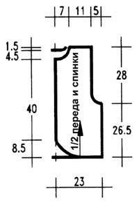 выкройка удлиненной жилетки женской 50 размер