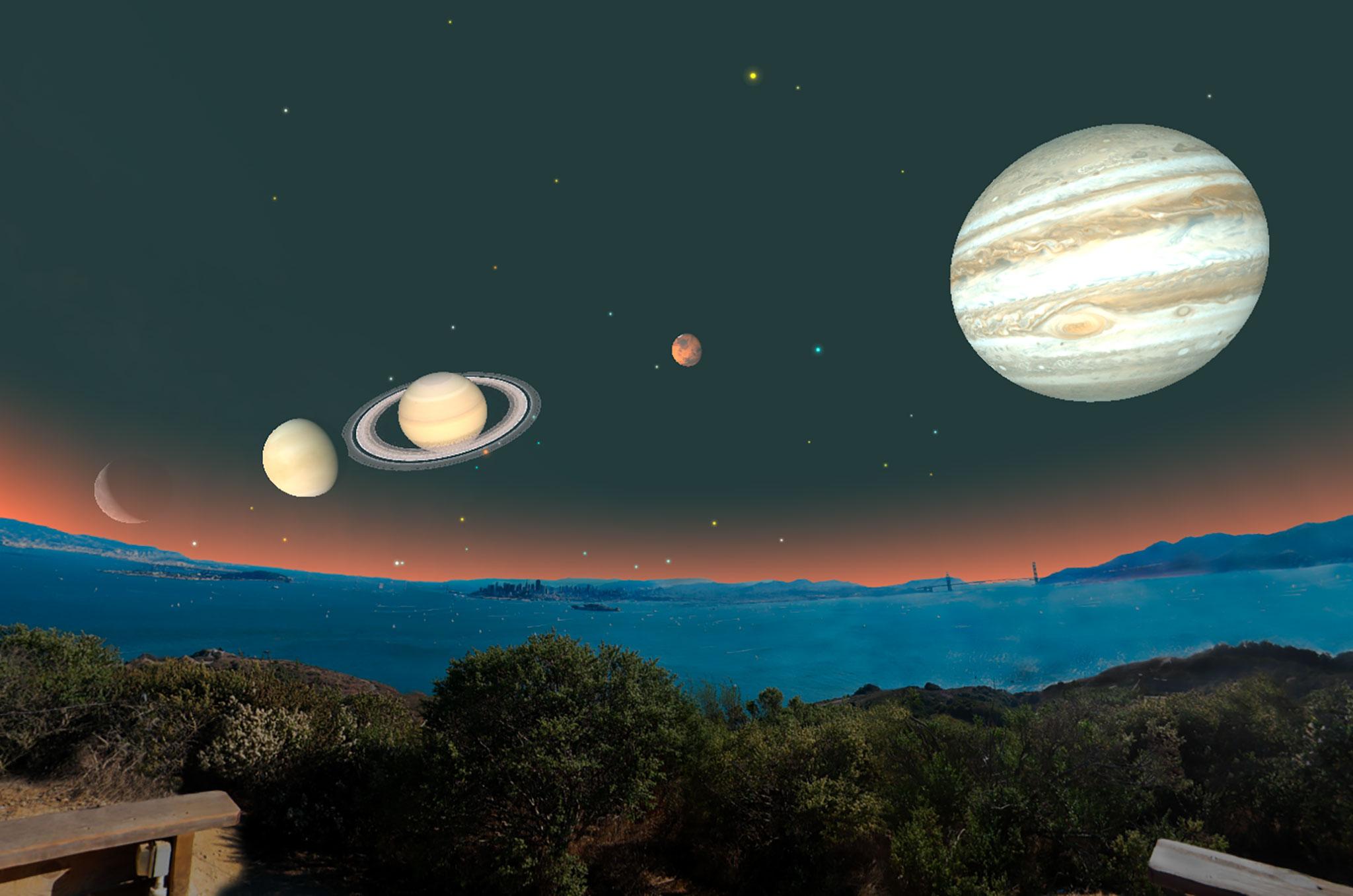moon jupiter saturn aligned - 980×649