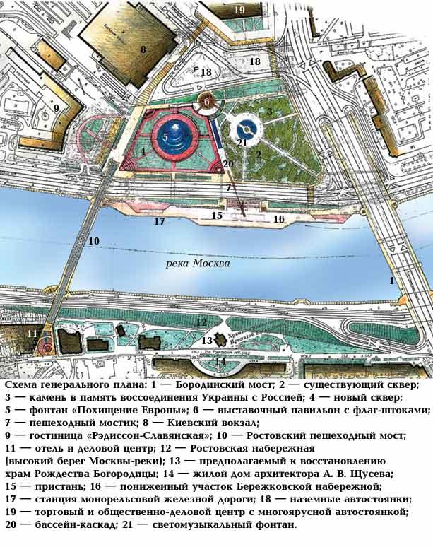 Схема генерального плана.