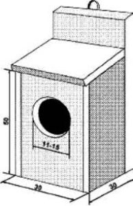 Гнездовой домик для волнистого попугая своими руками
