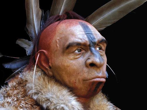 Реконструкция внешнего вида неандертальца. (Фото: Fabio Fogliazza / Human Evolution Museum (MEH) – Junta de Castilla y León (Spain).)