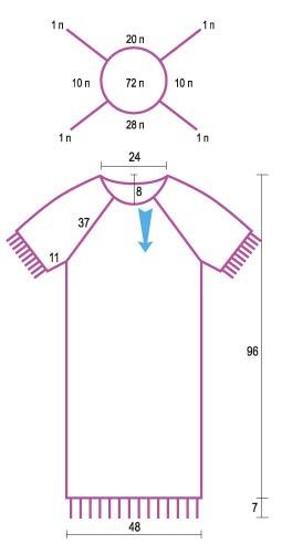 Выкройка реглан 56 размера платья