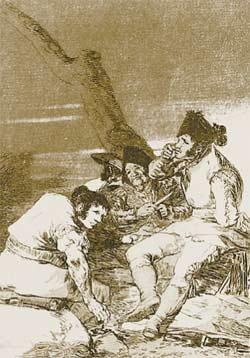 На офорте Гойи из серии «Капричос» (1799) изображены андалузские разбойники, поджидающие жертву. Один из них ковыряет в зубах.