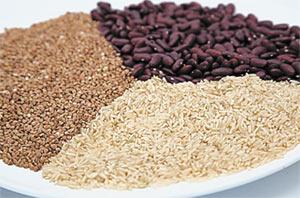 Бобовые для вегетарианцев — источник железа и цинка; продукты из цельного зерна содержат углеводы, белок, витамины группы В, минералы, пищевые волокна.