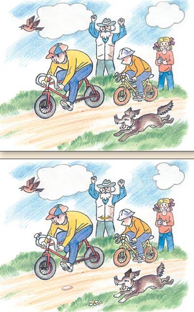 Найти отличия на двух картинках для детей 45