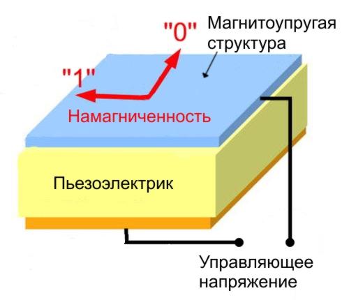 Устройство разработанной ячейки памяти MELRAM.