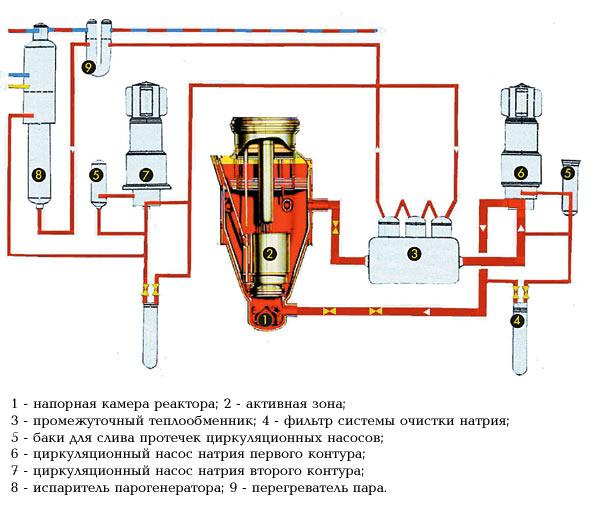 Принципиальная схема реактора