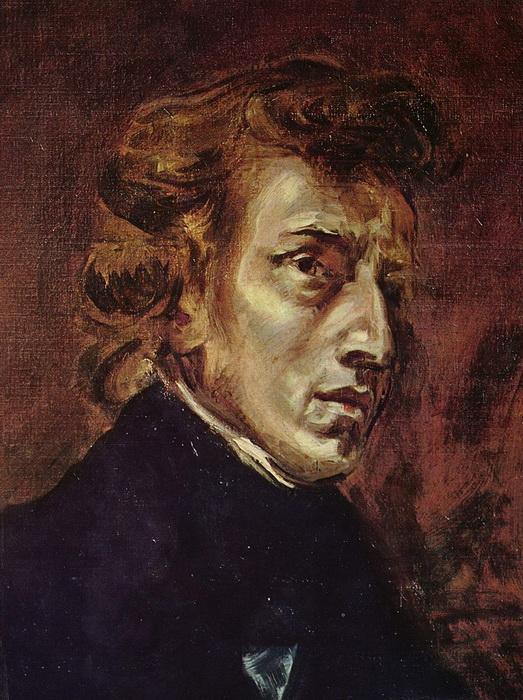 Портрет Шопена работы Эжена Делакруа, 1838. (Фото: Wikipedia.)