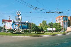 Площадь имени Ю.В.Кондратюка в Новосибирске.