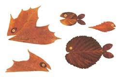 Аппликации из листьев сделанные