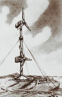 Илл. 3. Набросок Крымской ветряной электростанции (ВЭС).