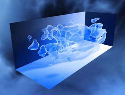 3D карта распределения темной материи во вселенной. Источник: NASA, ESA and R. Massey (California Institute of Technology)
