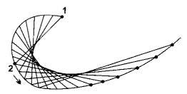 Рис. 2. Расстояние между стежками выбирайте в зависимости от характера линий рисунка и от толщины используемой нити.