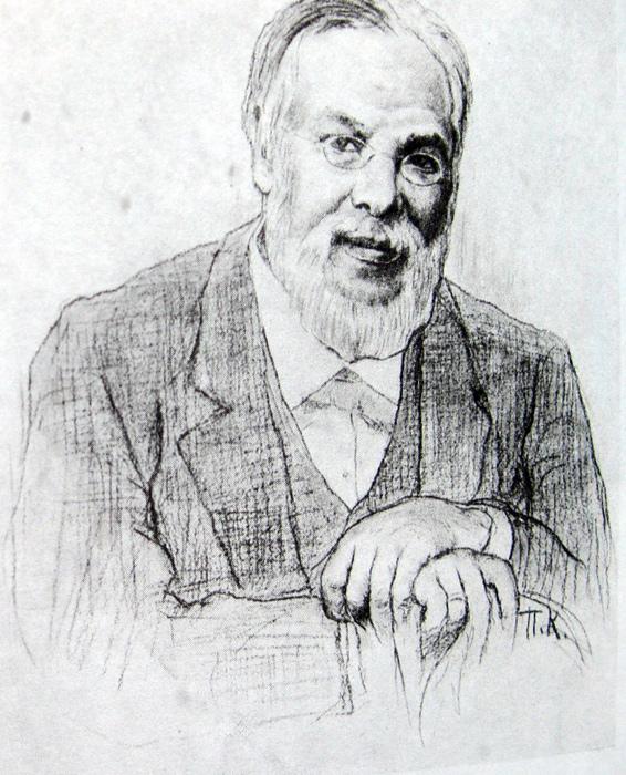 П.П. Кончаловский. Сергей Петрович Боткин. Карандаш. 1900 г.