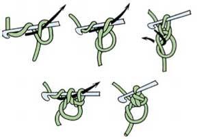 Как вязать скользящия петлю крючком