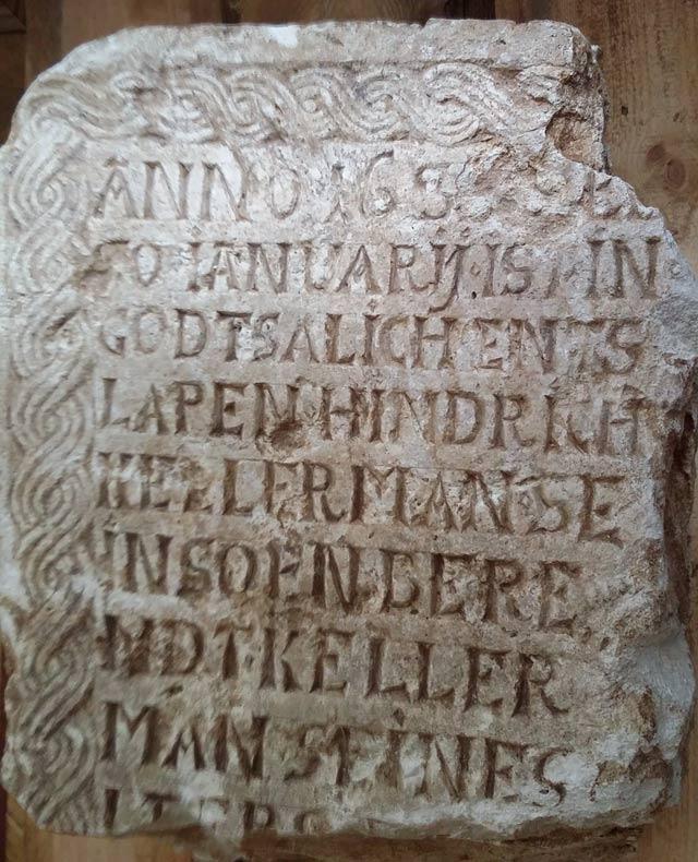 Немецкие надгробия XVII века из центра Москвы расшифровали