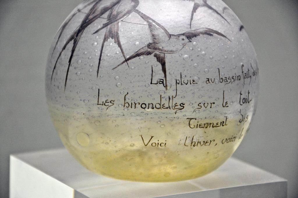 Ваза «Дождь в пруду оставляет пузырьки», Эмиль Галле 1889. Фото: Alexandre Prévot/Flickr.com https://www.flickr.com/photos/alexprevot/6952349123