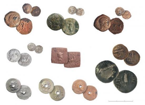 Монеты Греко-Бактрийских царей. (Фото: ИА РАН)